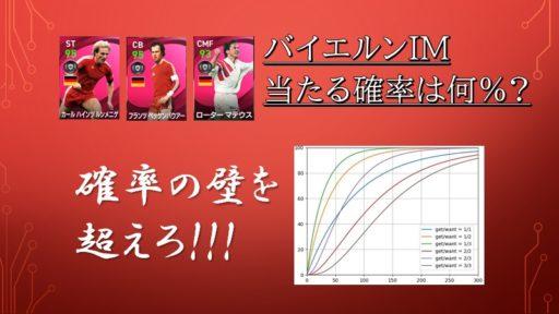 確率で見るIM(アイコニック)ガチャ 12/10~バイエルンIM